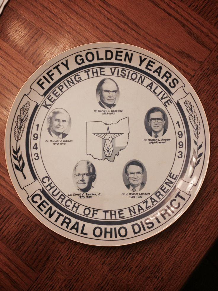 1993 golden anniversary central ohio nazarene district camp meeting plate nazarene heritage. Black Bedroom Furniture Sets. Home Design Ideas