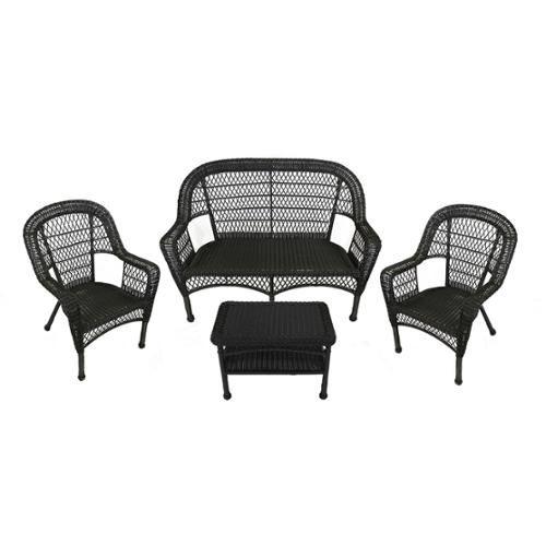 Black Resin Wicker Outdoor Furniture