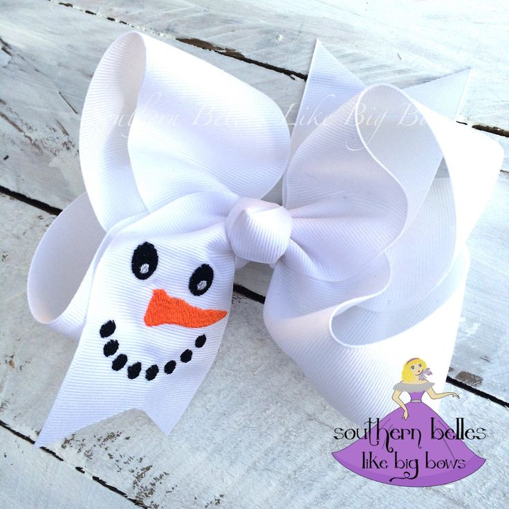 Big Snowman Bow, Snowman Hair Bow, Winter Bow, Big Christmas Bow, Christmas Snowman Bow, Big White Bow For Christmas, Gifts for Girls by BellesLikeBigBows on Etsy https://www.etsy.com/listing/255788190/big-snowman-bow-snowman-hair-bow-winter