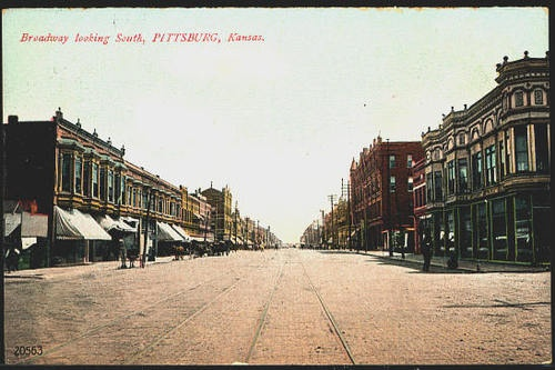Pittsburg Kansas KS 1908-town my grandfather settled in after his arrival from Umbria in 1908