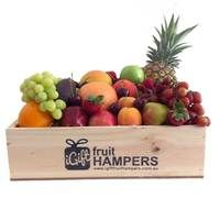 Large Mixed Fruit Hamper  We have a selection of Fruit Only gift hampers - these are ideal for people in hospital and nursing homes! We deliver our fruit hampers to hospitals, nursing homes, businesses and residential addresses across Australia Give the gift of fruit in a beautiful handmade wooden box! #fruithampers #fruitonly #fruitgifts