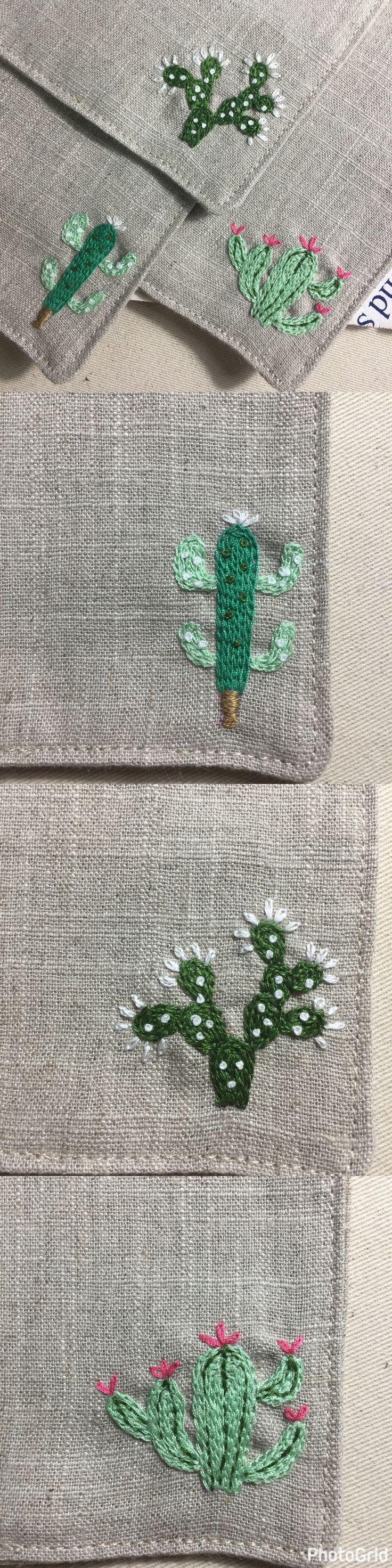 Handmade cactus coasters ~ cute!