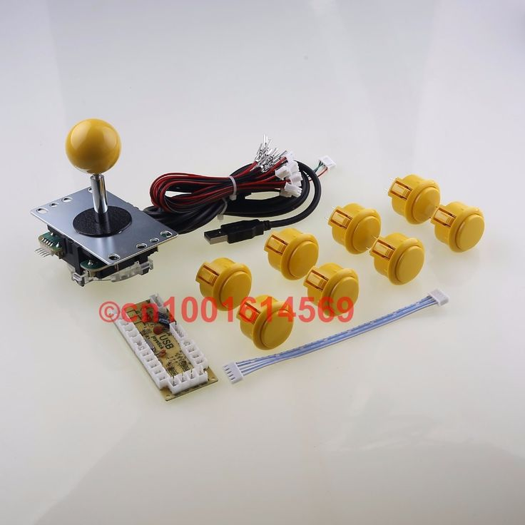 52.14$  Watch now - http://aliftn.shopchina.info/go.php?t=32378481064 - Arcade Game DIY Kits Parts Sanwa Bundles Sanwa Joystick + Sanwa Button + USB Encoder For Marvel vs Street Fighter Games - Yellow 52.14$ #magazineonlinebeautiful