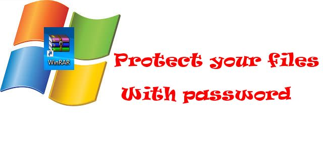 How to make Rar file password protected quickly