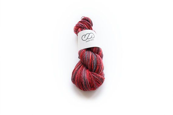 Ovilab Bright Skinnies | Cherry Cordial | Handspun, Hand-dyed, DK yarn | Superfine Merino