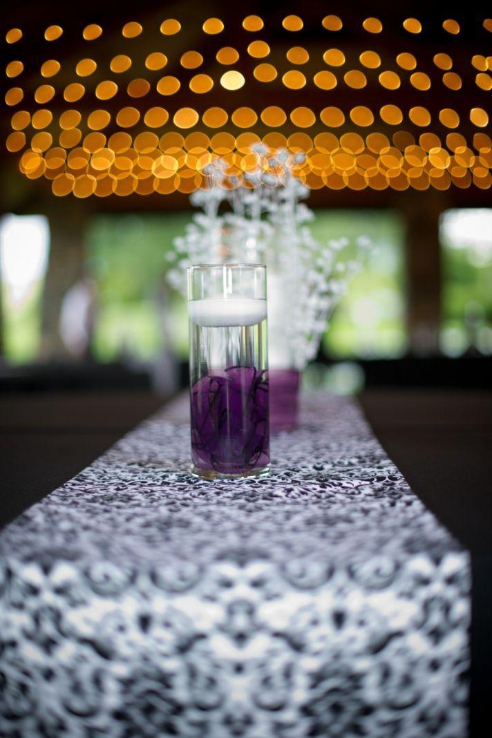 black white purple wedding reception%0A Black and Purple  Cheap Centerpiece IdeasCandle Wedding