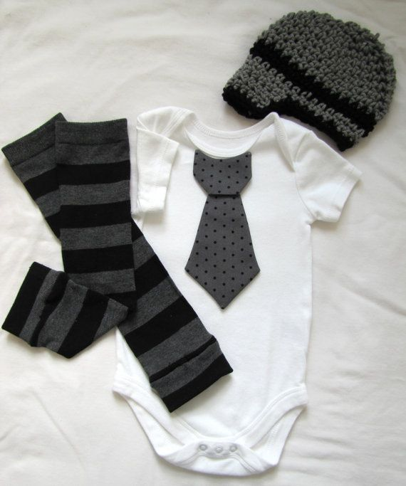 Baby boy tie onesie/body suit leg warmer  (totally can make)