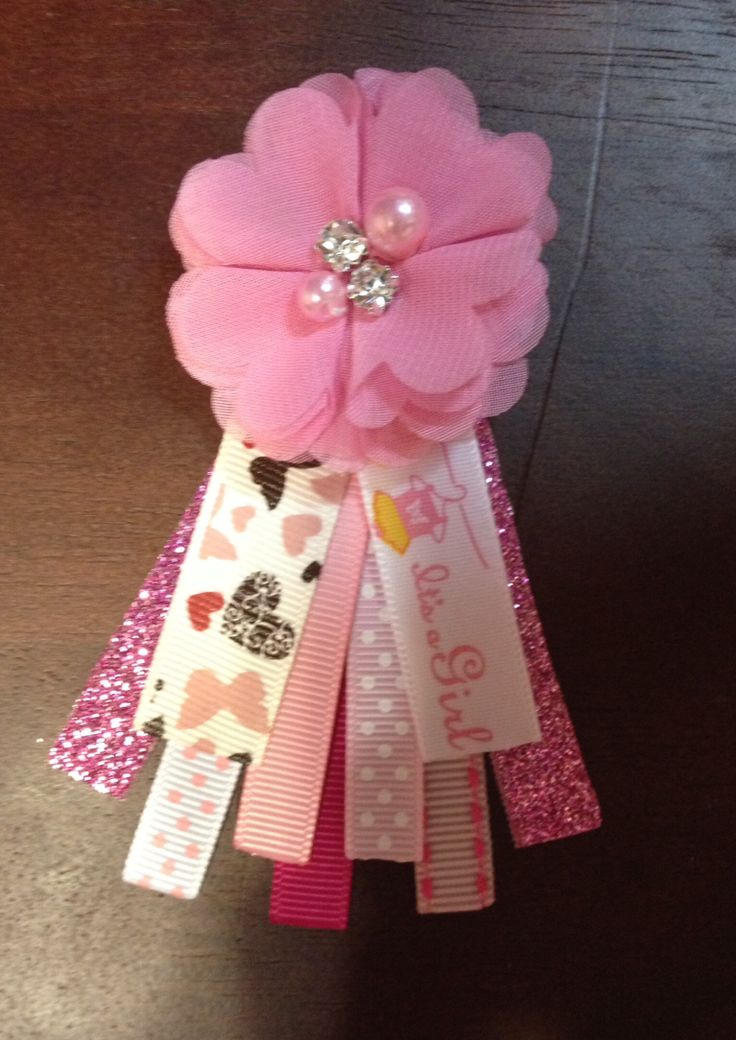 Guest Pins For Shabby Chic Baby Shower