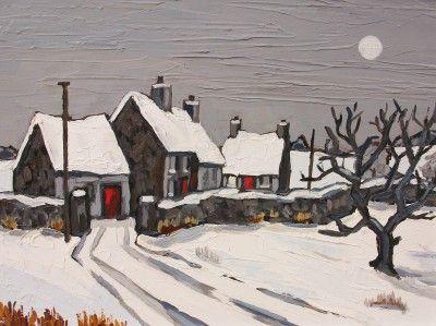 Moonlight near Rhuddlan by British Contemporary Artist David Barnes