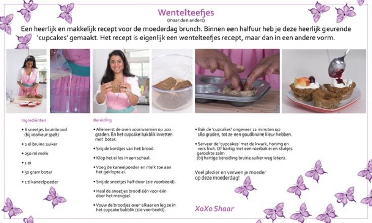 Cupcake wentelteefjes van Shaar