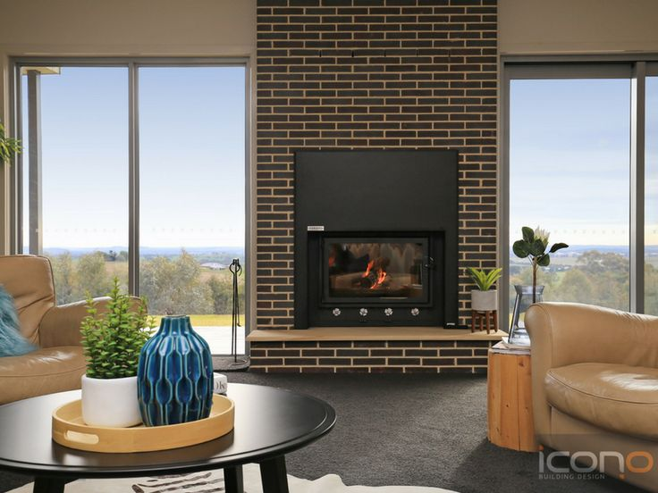 Fireplace with a view! #modernfireplace #Australianhomes #interiordesign