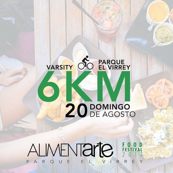 Atletas! El domingo 20 de Julio vamos a aprovechar la ciclovía y vamos a hacer una actividad afuera. No habra clases ese día y a cambio nos reuniremos en Varsity a las 11:00am para caminar/trotar/correr/montar en bici 6 KM hacia el parque el Virrey y disfrutar del festival gastronómico Alimentarte. - Alimentarte es el festival gastronómico de mayor reconocimiento en la ciudad de Bogotá; 200 restaurantes y chefs presentaran una muestra gastronómica de países como Cuba Perú Italia España…
