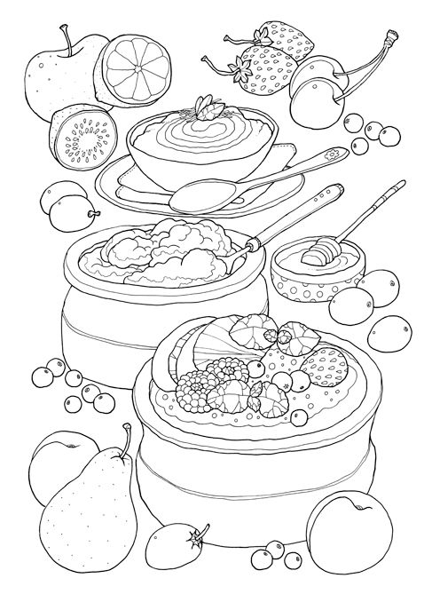 331 Best Food Related Mandala Coloring Pages Images On Pinterest