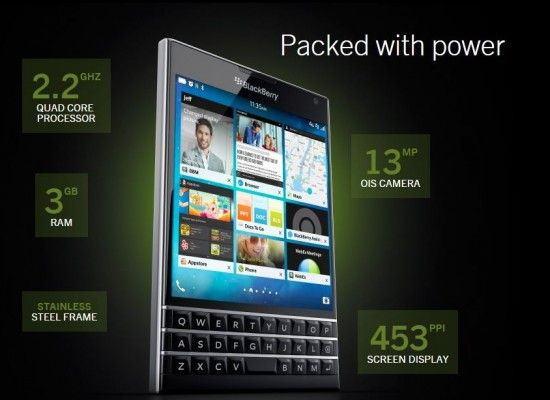 BlackBerry's too wide smartphone Passport