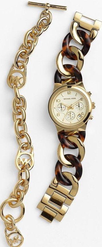 Michael Kors Watch & Toggle Bracelet ♥✤   KeepSmiling   BeStayBeautiful
