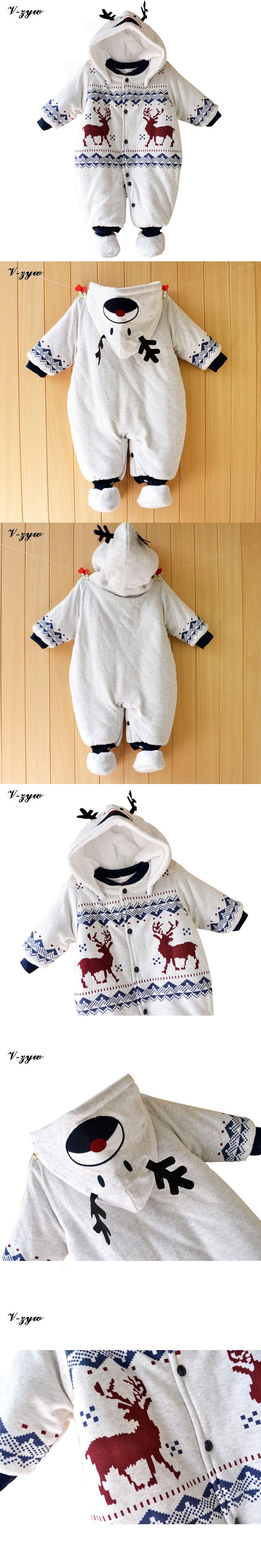 Winter Christmas Baby Rompers Long Sleeve Baby Boy Clothing Jumpsuit Children Clothing Newborn Baby Clothes Cotton Baby Rompers