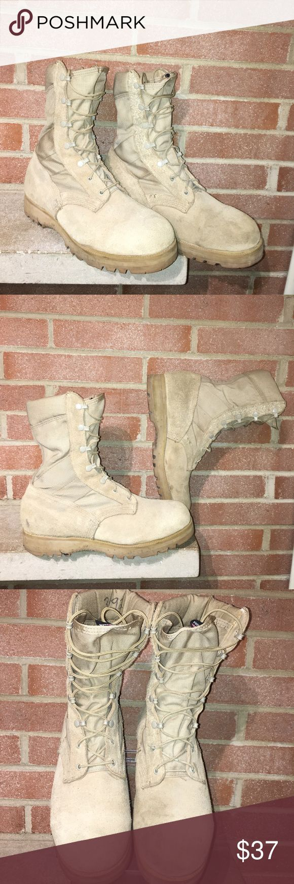 Men's Altman's US Military combat boots size 10W Men's Altman's US Military combat boots size 10W Tan Fast Shipping Made in USA Altama Shoes Boots