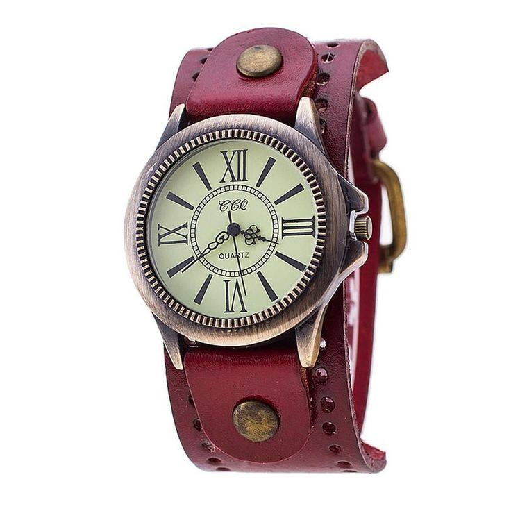 Vintage Leather Band Watch