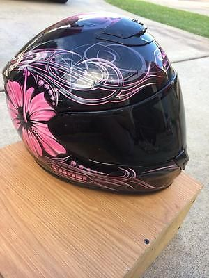 Shoei Women w Womens Motorcycle Helmet Small Pink and Black Used Qwest | eBay