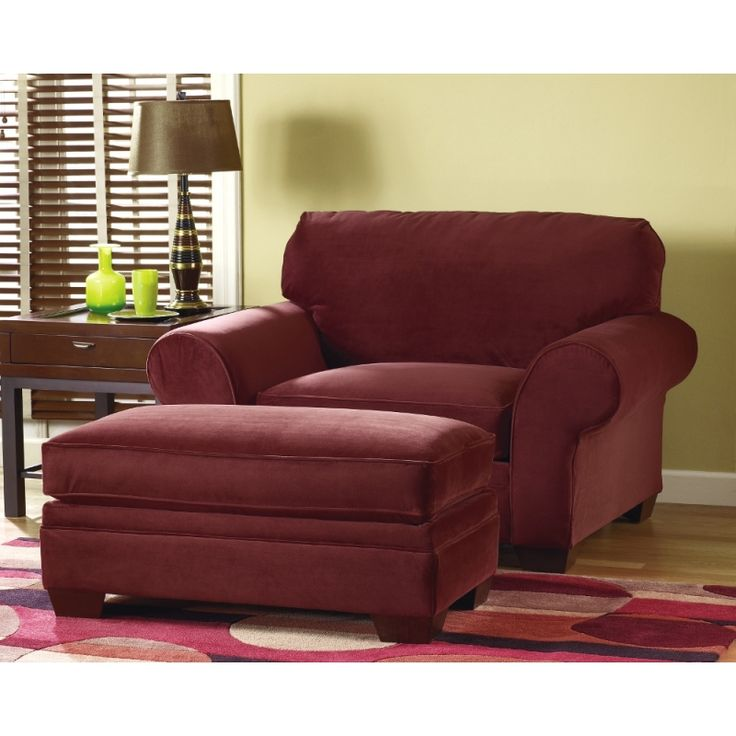 Wine Colored Accent Chair