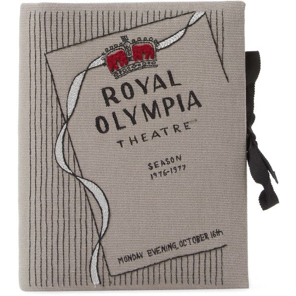 OLYMPIA LE TAN Women's Royal Olympia Notebook Clutch - Grey (€525) ❤ liked on Polyvore featuring bags, handbags, clutches, grey, cotton handbags, grey purse, grey clutches, gray handbags and gray purse