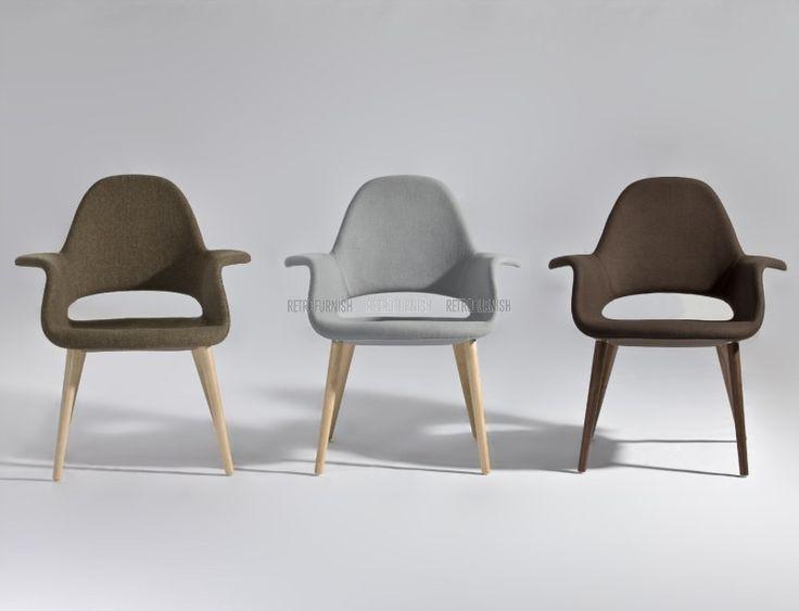 Deze reproductie Organic Chair is geïnspireerd op een origineel ontwerp van Eero Saarinen, de Finse Amerikaanse architect en industrieel ontwerper bekend om zijn gevarieerde en eclectische stijl. Net als bij zijn hele collectie was het hele concept één van eenvoudige, vegen, uitgebreide structurele bochten met een combinatie van machine-achtig rationalisme waarin de verbeelding van een generatie consumenten gevangen zit. De Organic Chair is één van de vele in een collectie die eer bewijst…
