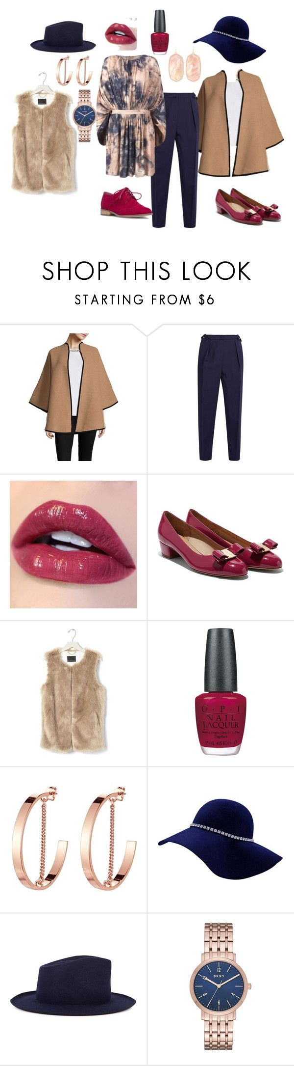"""Блуза с рукавами кимоно"" by evavendoc on Polyvore featuring мода, Burberry, Roksanda, Banana Republic, OPI, Jenny Bird, Satya Twena, DKNY и Kendra Scott"
