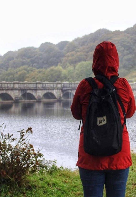 Junkbox Boardwear UNISEX urban rucksack in Black backpack