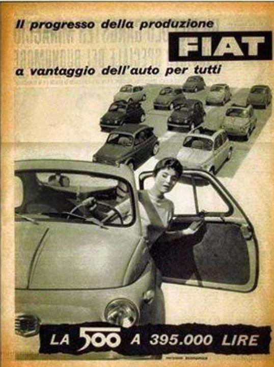 Avete 395 lire? Se si potete comprare una Fiat 500 alla nostra pagina…