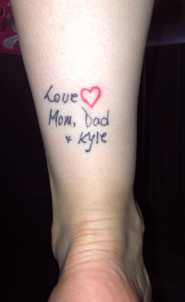 Best 25 handwriting tattoos ideas on pinterest for Cursive neck tattoos