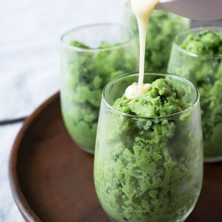 Matcha (Green Tea) Latte Granita Recipe