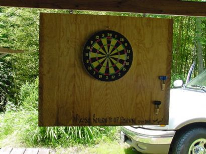 outdoor dartboard installation - Google Search