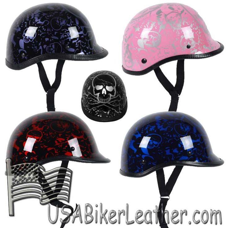 Polo Jockey Novelty Motorcycle Helmet Boneyard Colors -SKU USA-BY-POLO-NOV-HI