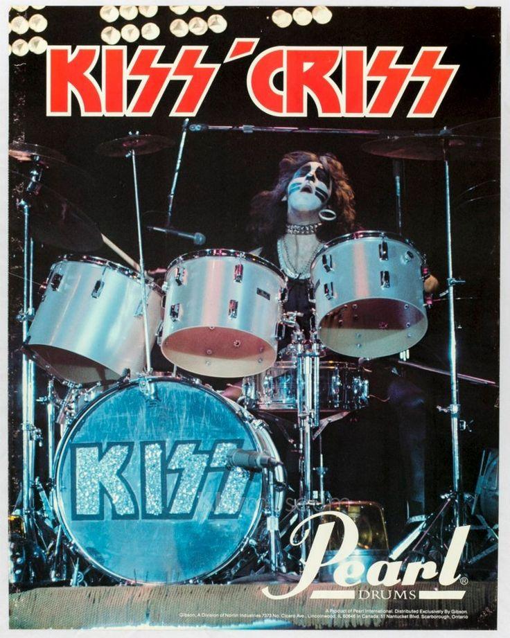 Rare Peter Criss Pearl Drum advertisement