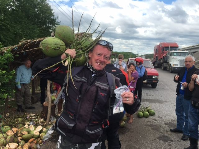 """Mike Ferris has a lovely bunch of coconuts! See all the stories about that motorcycling nirvana called Mexico on our Ferris Wheels Motorcycle Safaris Tacos 'n' Tequila tour. Just go to motorbike writer.com and search for """"Mexico""""."""