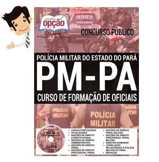 Conquiste sua Aprovação no Concurso da  Polícia Militar do Estado do Pará (PM-PA) 2016, estudando com nossa Apostila preparatória do Curso de Formação de Oficiais. São 160 vagas com remuneração de R$ 6.249,29. O candidato deve possuir Nível Superior.  As inscrições ficam abertas até 23 de junho, diretamente no site oficial da organizadora Fundação de Amparo e Desenvolvimento da Pesquisa da UFPA (FADESP), https://www.portalfadesp.org.br/. A taxa de inscrição é de R$ 100,00.