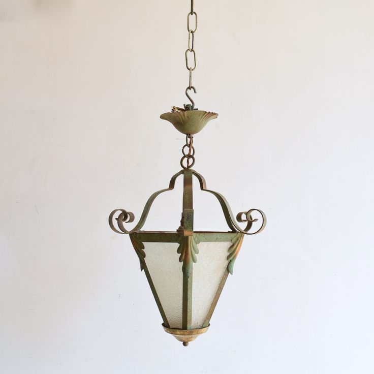 French Greened Ceiling Lantern