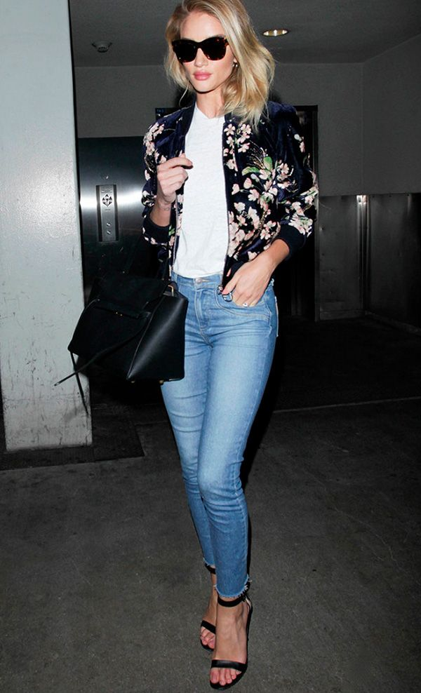 rosie huntington-whiteley aeroporto look