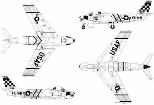 F 86f Drawings North American F 86f Sabre Planes