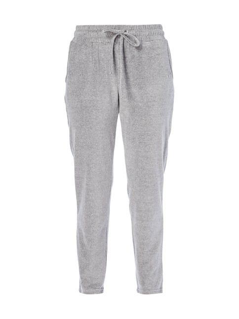 Sweatpants aus Samt Grau / Schwarz - 1