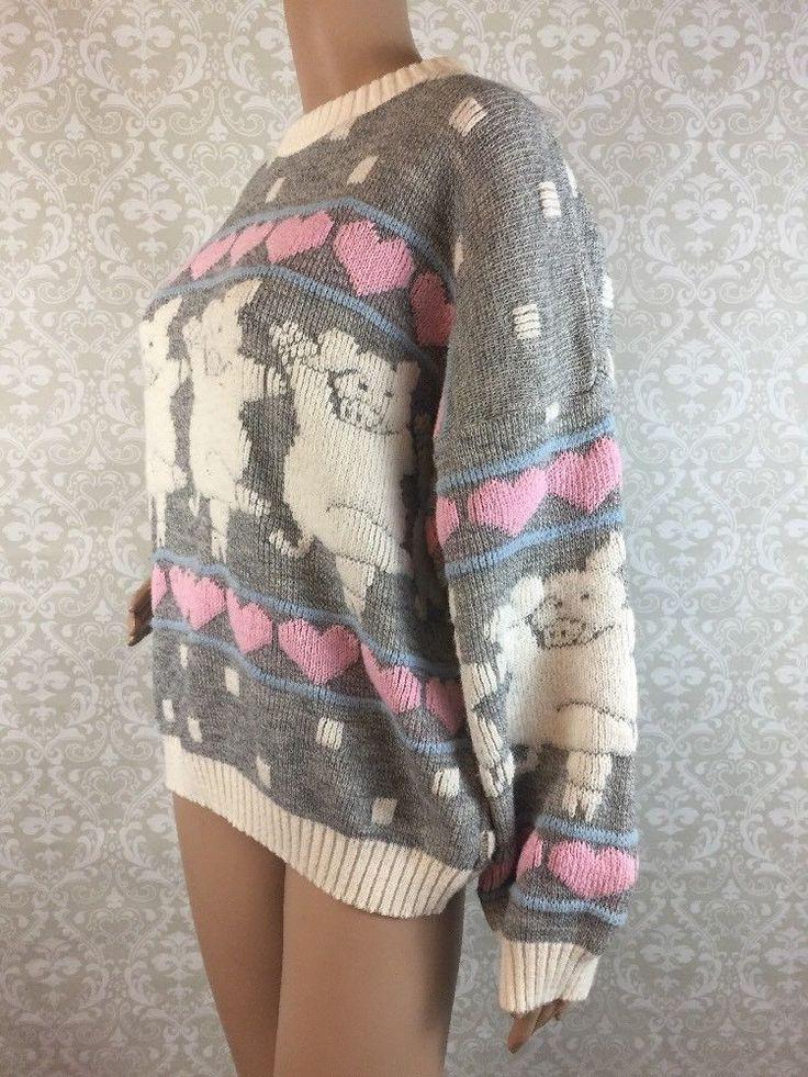 Vintage Fairy Kei Sweater Pigs Ballet Pastel Sz S M RARE | eBay