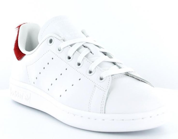 low priced d6f5f 65a01 ... Adidas stan smith poils pony hair BLANCROUGE