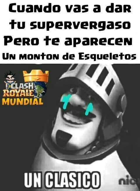 hola hoy les traigo memes de clash royale espero que les
