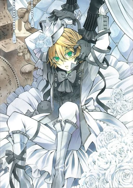 Oz Vessalius. Seriously, the artwork in this series is gorgeous