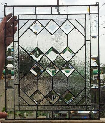 Stained glass Window  Geometric Elegance by TerrazaStainedGlass, $220.00