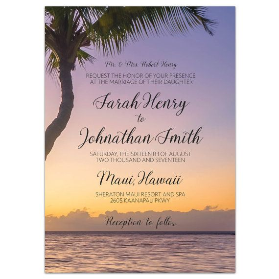 Printable Wedding Invitation Suite / Beach / by MariaDdesigns #wedding #invitation #sunset #destinationwedding #weddinginvite #printable #design #mariaddesigns