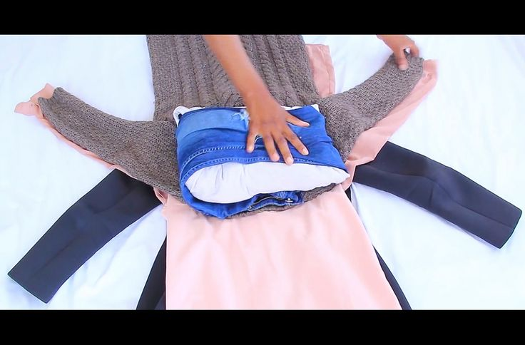 Ingenious method to pack all your clothes into a carry on. #travelhacks #travel