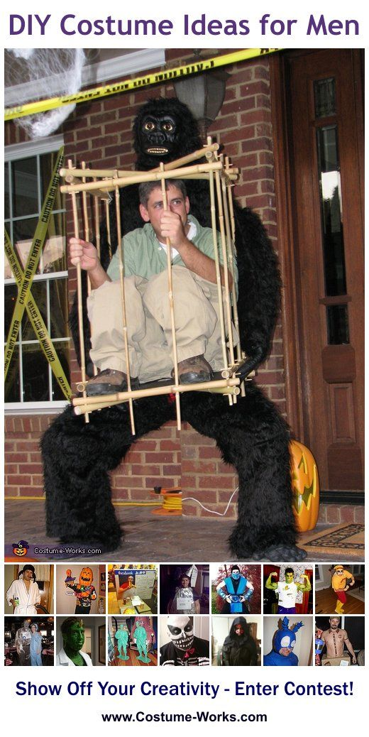 DIY Costumes for Men - some great Halloween costume ideas!