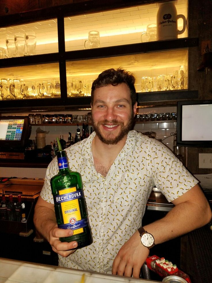 #Bartender Ethan @ the #Bohemian #Biergarten in #Boulder #recommends #Becherovka. Becherovka is often described as having a #ginger or #cinnamon flavor. Often drunk as a digestive aid in the #Czech Republic. #Yummy . . #Bar #mixology #resturant #drinks #booze #cocktails #shots #liquor #Vodka #Martini #bourbon #beer #Keg #tequila #gin #whiskey