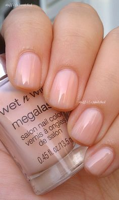 stuff i swatched: LATE Skinny Dipping (With Friends): Wet n Wild Mega Last 2% Milk Perfectly matching nude nail polish